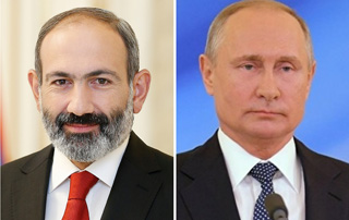 Nikol Pashinyan holds phone conversation with RF President Vladimir Putin