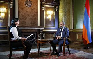 L'enretien de Nikol Pashinyan à la chaîne de télévision russe «MIR»