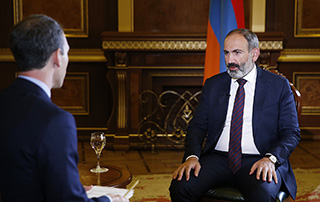 """L'enretien de Nikol Pashinyan à  la chaîne de télévision """"Al Jazeera"""""""