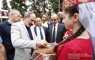Le Premier ministre Nikol Pashinyan s'est rendu en visite dans la région de Tavush