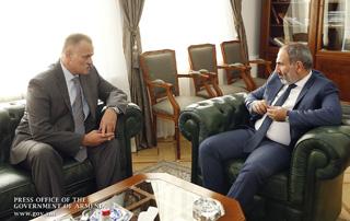 Նիկոլ Փաշինյանն ընդունել է «Հարավկովկասյան երկաթուղի» ՓԲԸ  գլխավոր տնօրեն Սերգեյ Վալկոյին