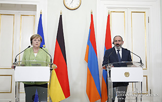 Armenian Prime Minister, German Chancellor summarize their talks and answer journalists' questions