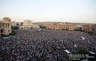 Un grand rassemblement consacré à la 100ème journée du gouvernement dirigé par le Premier ministre Nikol Pashinyan