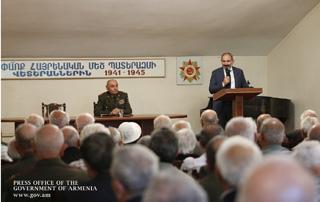 Նիկոլ Փաշինյանն այցելել է Հայաստանի վետերանների միավորում