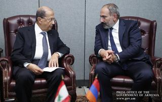 Никол Пашинян и Мишель Аун обсудили вопросы дальнейшего развития армяно-ливанских отношений