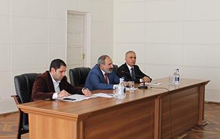 Исполняющий обязанности премьер-министра Никол Пашинян совершил рабочий визит в Сюникскую область