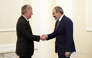 Նիկոլ Փաշինյանը և Ջոն Բոլթոնը քննարկել են հայ-ամերիկյան հարաբերությունների օրակարգային մի շարք հարցեր