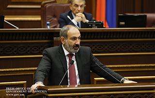 Речь исполняющего обязанности премьер-министра Республики Армения Никола Пашиняна в Национальном Собрании