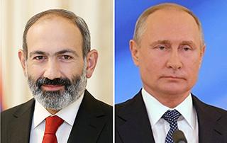 Никол Пашинян провел телефонный разговор с Владимиром Путиным