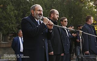 Le discours de Nikol Pashinyan à Achtarak