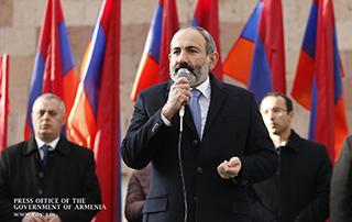 L'intervention  de Nikol Pashinyan à Aparan
