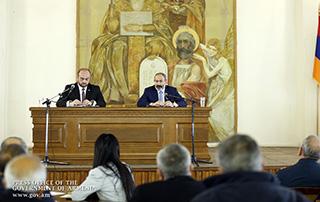 Визит исполняющего обязанности премьер-министра Армении Никола Пашиняна в Арагацотнскую область