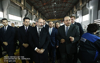 Nikol Pashinyan attends opening of household appliances manufacturing plant