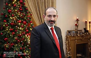 Message de vœux  du Premier ministre par intérim, Nikol Pashinyan, à l'occasion du Nouvel An et de Noël
