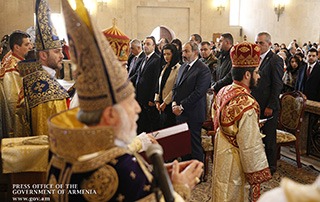 Nikol Pashinyan attends liturgy dedicated to Feast of Holy Nativity and Theophany