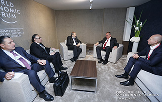 PM continues his meetings on the margins of Davos Economic Forum