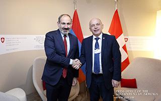 Никол Пашинян в Давосе провел встречи с президентами Швейцарии, Руанды и Украины