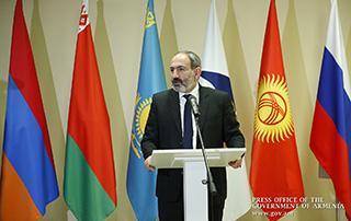 Nikol Pashinyan a répondu aux questions des journalistes à la Commission euriasiatique