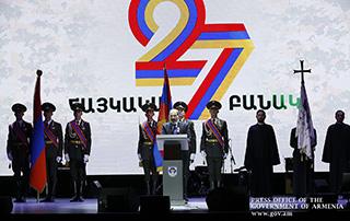 «Nous ne céderons cette Patrie à personne, nous ne concéderons cette victoire à personne»;  Message de félicitations du Premier ministre Nikol Pashinyan à l'occasion du Jour  de l'armée