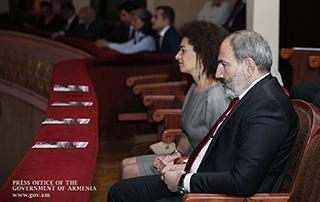 Nikol Pashinyan, Anna Hakobyan attend gala concert dedicated to 150th anniversary of Komitas