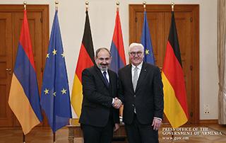 Գերմանիայի նախագահն ընդունել է Հայաստանի վարչապետ Նիկոլ Փաշինյանին