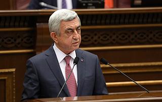 Վարչապետի թեկնածու Սերժ Սարգսյանի ելույթը ԱԺ հատուկ նիստում
