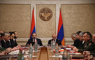 Nikol Pashinyan, Bako Sahakyan co-chair joint meeting of Security Councils of Armenia and Artsakh