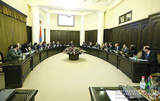 Une séance  extraordinaire du Gouvernement de la République d'Arménie a eu lieu