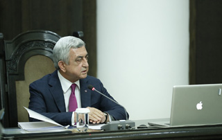 Prime Minister Serzh Sargsyan relinquishes Third President's entitlement to State-funded housing