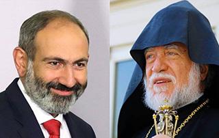Премьер-министр провёл телефонный разговор с Католикосом Великого Дома Киликийского Арамом Первым