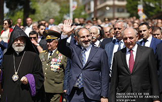 PM attends triple holiday celebrations in Artsakh