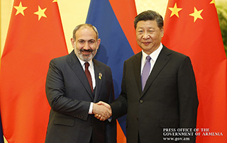 Nikol Pashinyan, Xi Jinping discuss furtherance of Armenian-Chinese relations