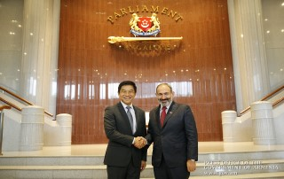 RA Prime Minister, Singapore Parliament Speaker discuss bilateral cooperation development prospects