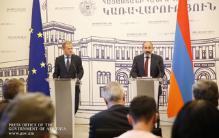 RA Prime Minister, European Council President made statements to sum up bilateral talks results