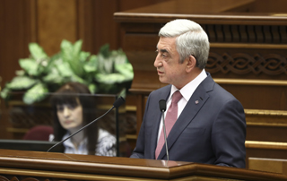 Վարչապետ Սերժ Սարգսյանի խոսքը ԱԺ հատուկ նիստում քվեարկության արդյունքների հրապարակումից հետո