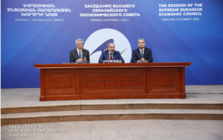 """The Supreme Eurasian Economic Council's Yerevan Summit was unprecedented in its nature"" – Armenian, Singaporean Prime Ministers and EAEC Board Chairman come up with joint press conference"