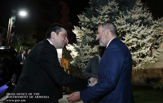 PM Nikol Pashinyan hosts official dinner in honor of Giorgi Gakharia