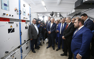 PM Pashinyan attends re-commissioning of High Voltage Electricity CJSC Victory Substation