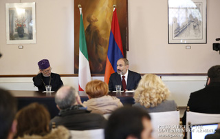 """Our government has set a key national agenda goal to substitute sectionalism with pan-Armenian ideology"" - PM meets with Mekhitarist Congregation monks and Armenian community representatives of Venice"