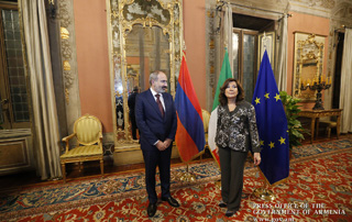 Nikol Pashinyan arrives in Rome: meeting held between the Armenian Prime Minister and the President of the Italian Senate