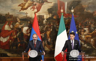 """We had constructive and productive talks with the Italian Prime Minister"" – Nikol Pashinyan makes statement to media on the outcome of his talks with Italian counterpart"