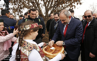 Nikol Pashinyan inspects road rehabilitation activities in Sis village; PM attends new kindergarten opening ceremony in Ranchpar community