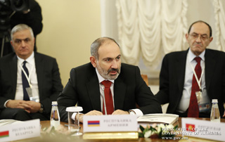 Nikol Pashinyan attends Supreme Eurasian Economic Council meeting in St. Petersburg