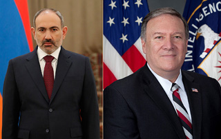 PM calls Mike Pompeo's attention to the fact of Azerbaijan's violation of ceasefire agreement