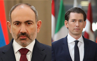 Prime Minister Pashinyan offers condolences to Sebastian Kurz