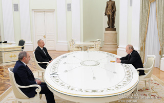 Joint statement issued following meeting between Nikol Pashinyan, Vladimir Putin and Ilham Aliyev