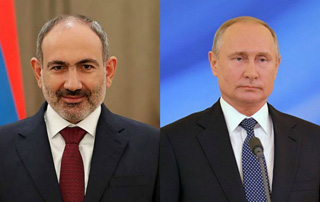 PM Pashinyan holds phone conversation with Vladimir Putin