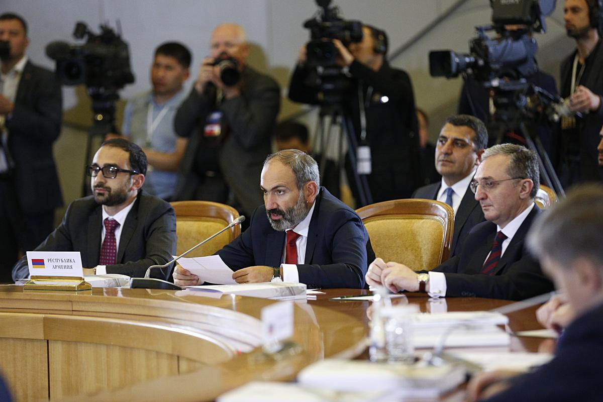 Пашиян представил подходы Армении по вопросу взаимодействия с ЕАЭС
