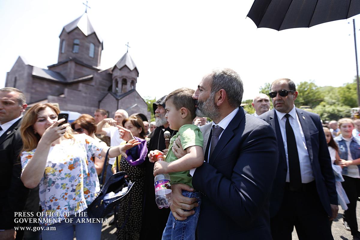 Никол Пашинян в Нагорном Карабахе