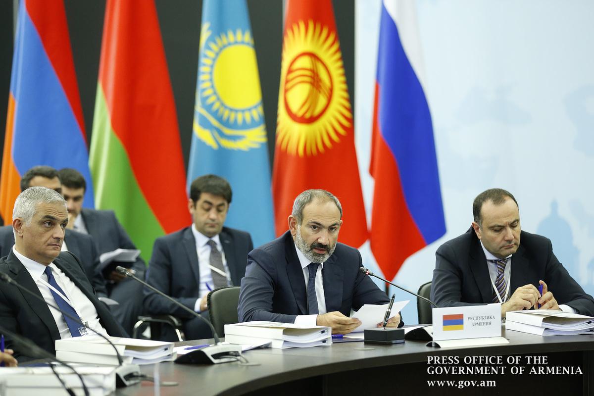 Премьер Армении: Формирование общего рынка газа ЕАЭС придаст новый импульс развитию экономического сотрудничества
